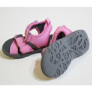 Gymboree Athletic Pink Gray Trail Sandals Size 5